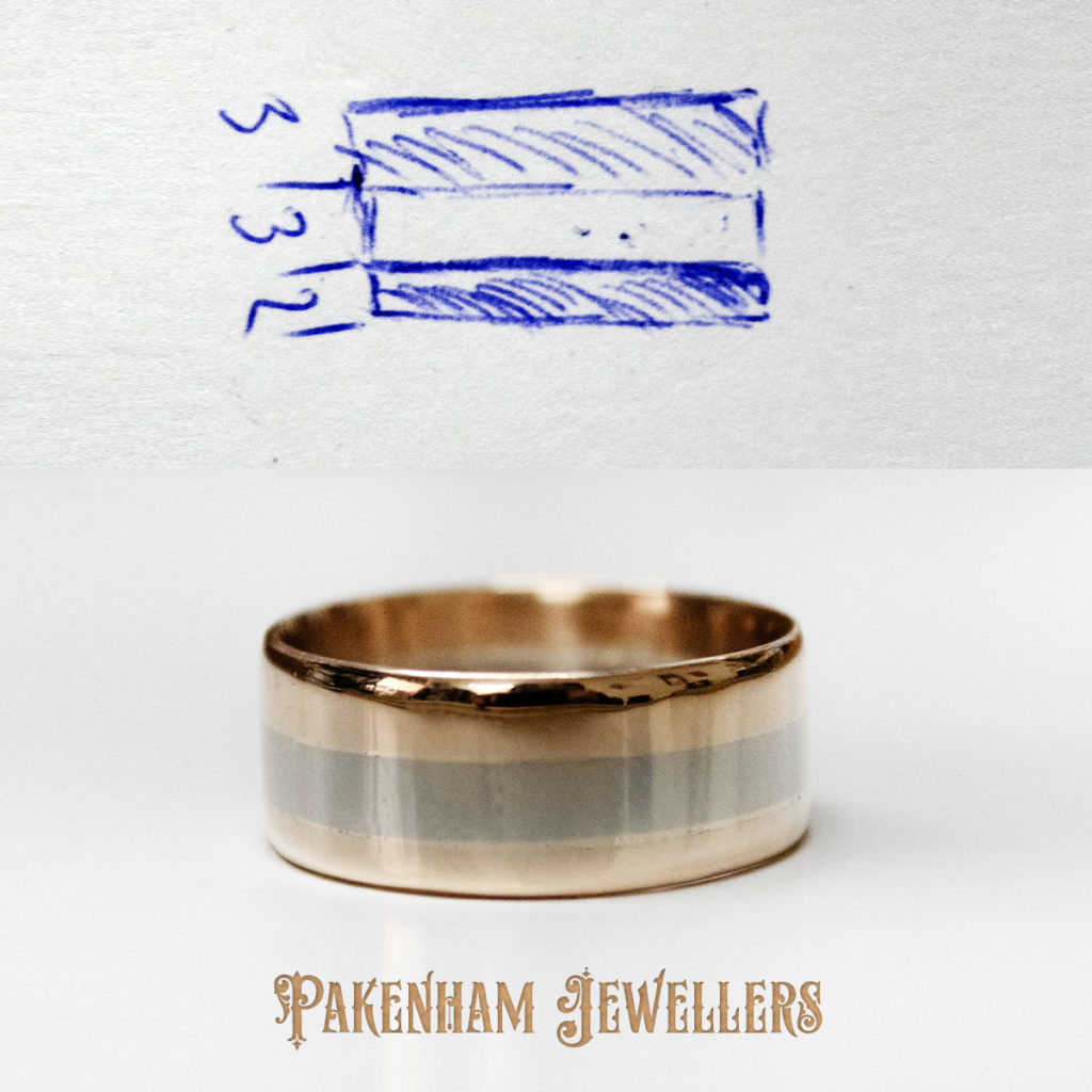 Wedding ring concept and finished